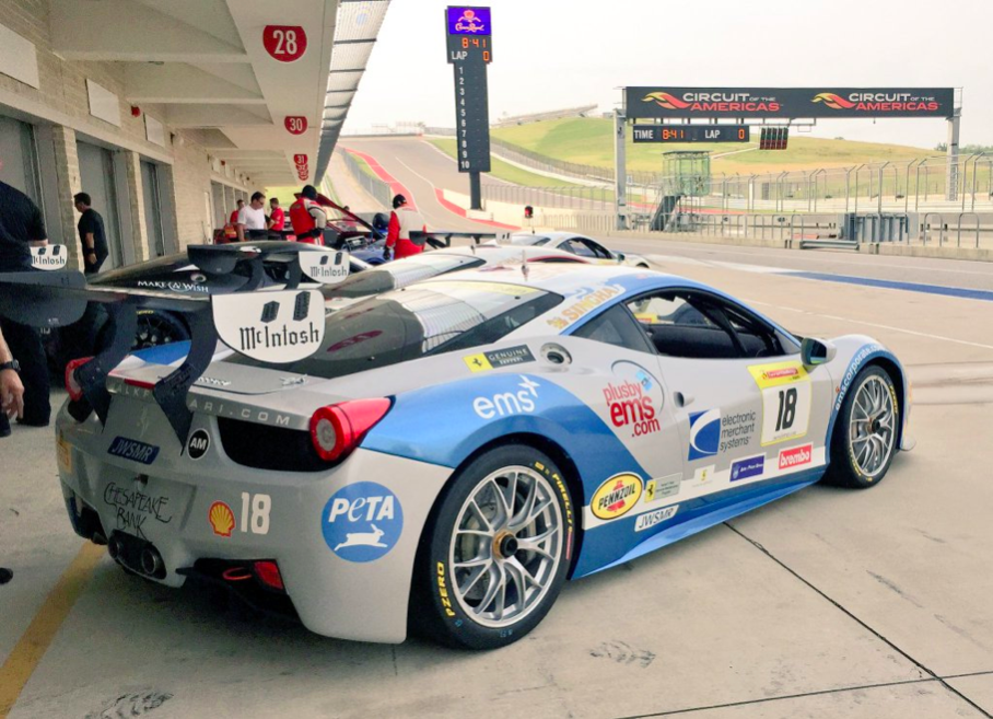 EMS Race Team Earns Two Victories at Circuit of the Americas Ferrari Challenge