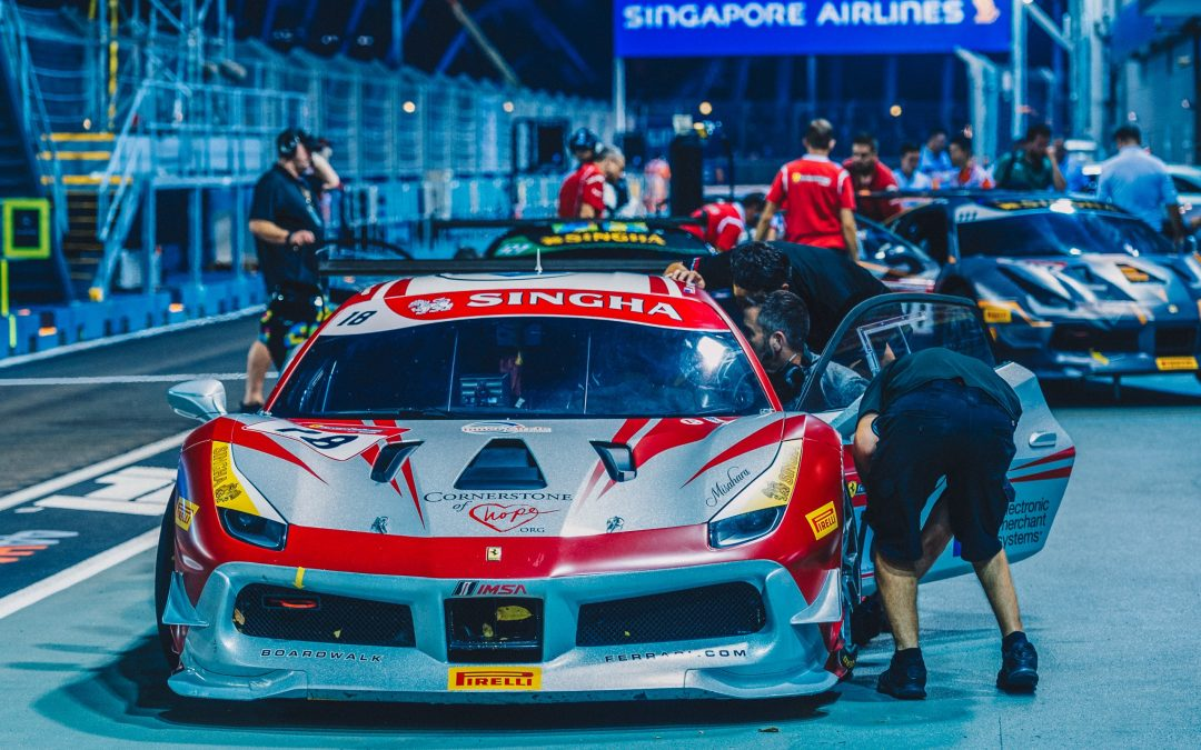 EMS Race Team Roars Back with Storming Drive in Singapore Ferrari Challenge